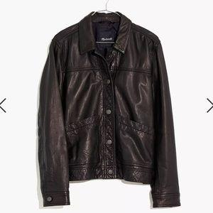 NWT Madewell Washed Leather Chore Jacket